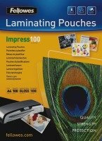 Fellowes Glossy Laminating Pouches A4 200 Micron 100 Pack