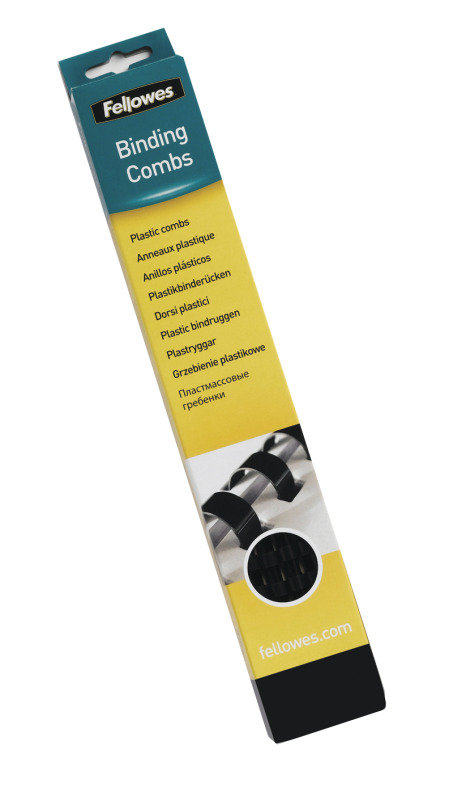 Fellowes Plastic Comb 19mm A4 Black 100 Pack