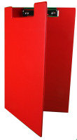 Rapesco Foldover Clipboard, A4/Foolscap (red)