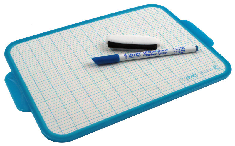 Bic Velleda Blue Trim Drywipe Board - 19x26mm