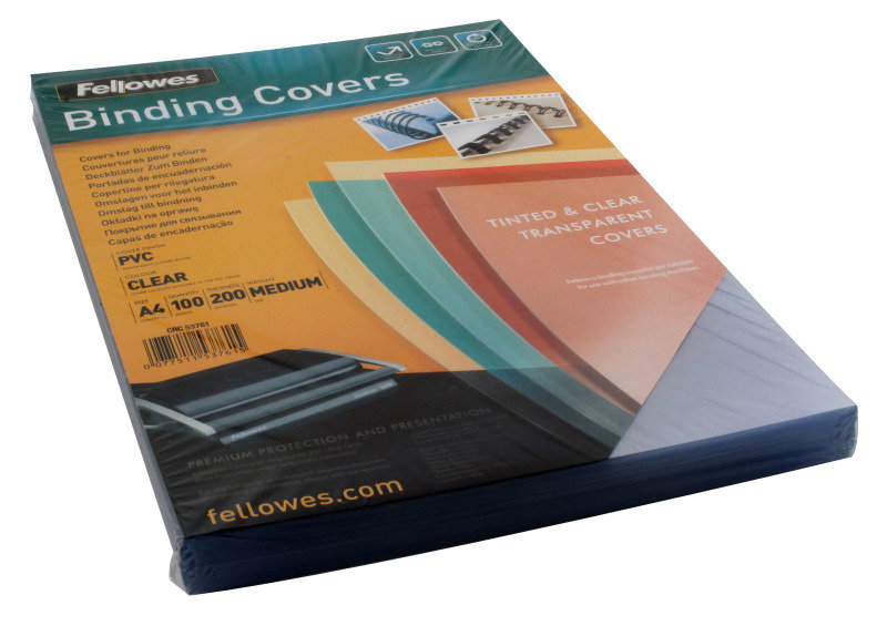 Fellowes Transparent Plastic Cover 100 Pack