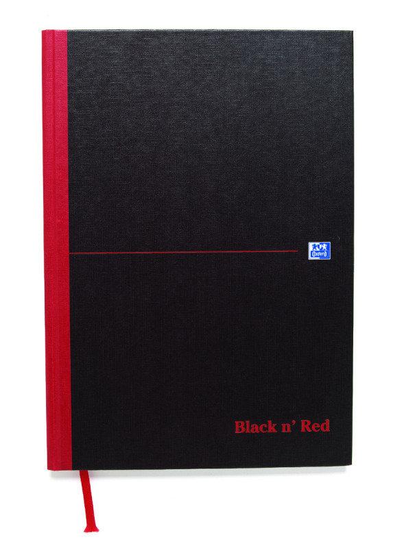Black N Red A4 Casebound Notebook - 5 Pack