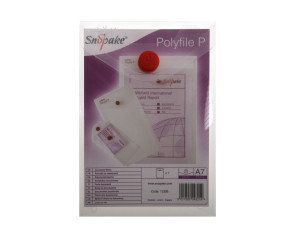 Snopake Polyfile Wallet A7 Clear 13306 - 5 Pack