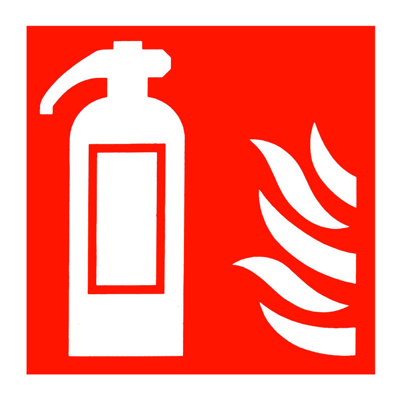 Fire Exting Symbol 100x100mm S/a Kf44a/s - 5 Pack