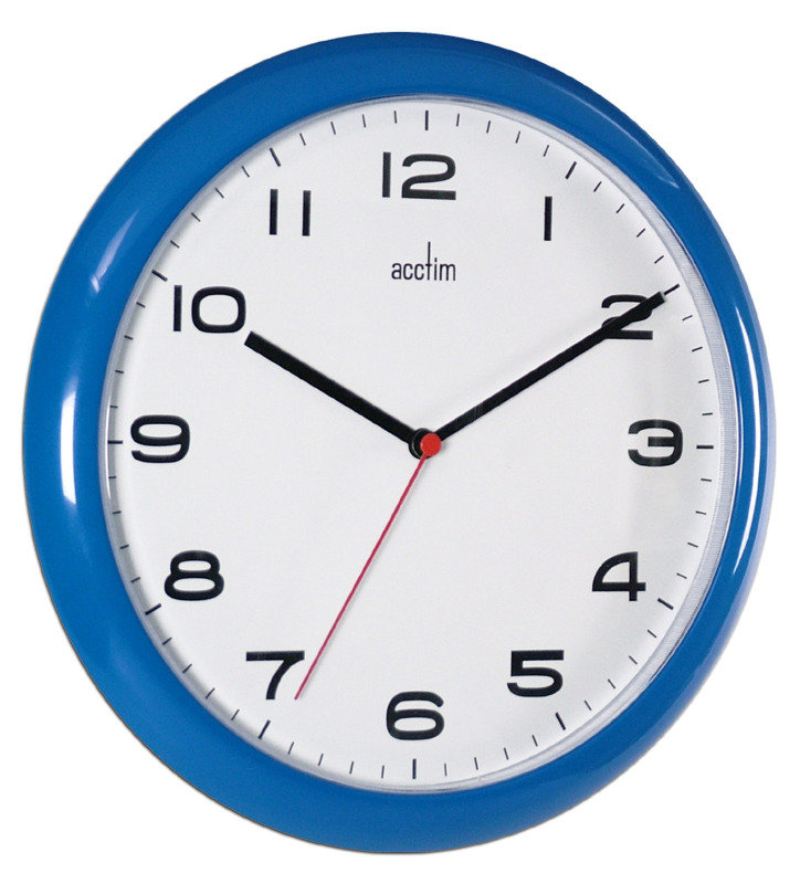 Image of ACCTIM AYLESBURY WALL CLOCK BLUE 92/308