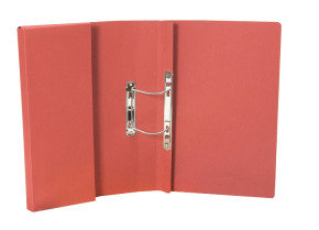 Guildhall Heavy Weight Pocket Spiral File Red - 25 Pack