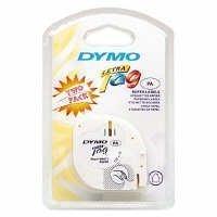 Dymo Lettertag Plastic Tape - Pearl White