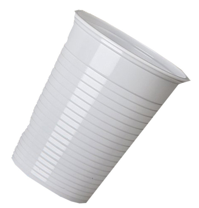 MyCafe Plastic Disposable Cups 7oz White (Pack of 2000)