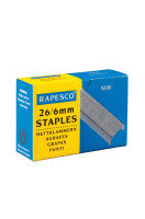 RAPESCO STAPLES 6MM 26/6 PK5000 NO26/6