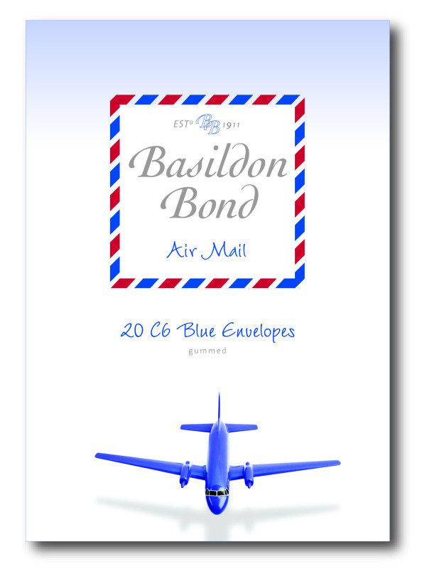 Basildon Bond Airmail Envelope Blue Pk20 - 10 Pack