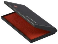 Q-Connect Large Stamp Pad Metal Case Red