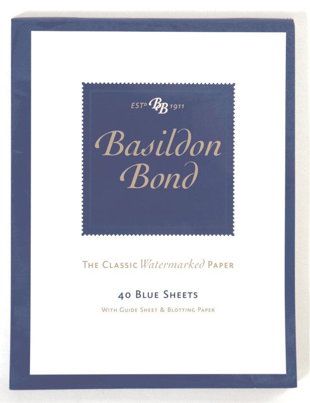 Image of Basildon Bond Small Writing Pad 40sh Blu - 10 Pack