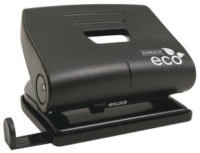 Rapesco Eco Medium Hole Punch - 100% Recycled ABS (20 Sheets) (black)
