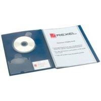REXEL CLRVIEW DSP BK A4 24PKT BLU 10320
