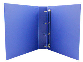 Q CONNECT PRES BINDER 4DRING 40MM BLUE