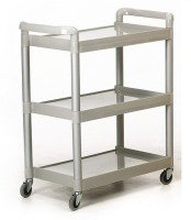 GPC Grey 3 Shelf Service Trolley