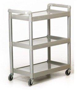 GPC Grey 3 Shelf Service Trolley