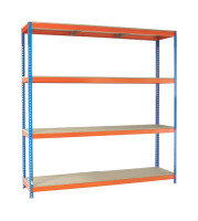 VFM Orange/Zinc Heavy Duty Painted Shelving Unit (Pack of 1)