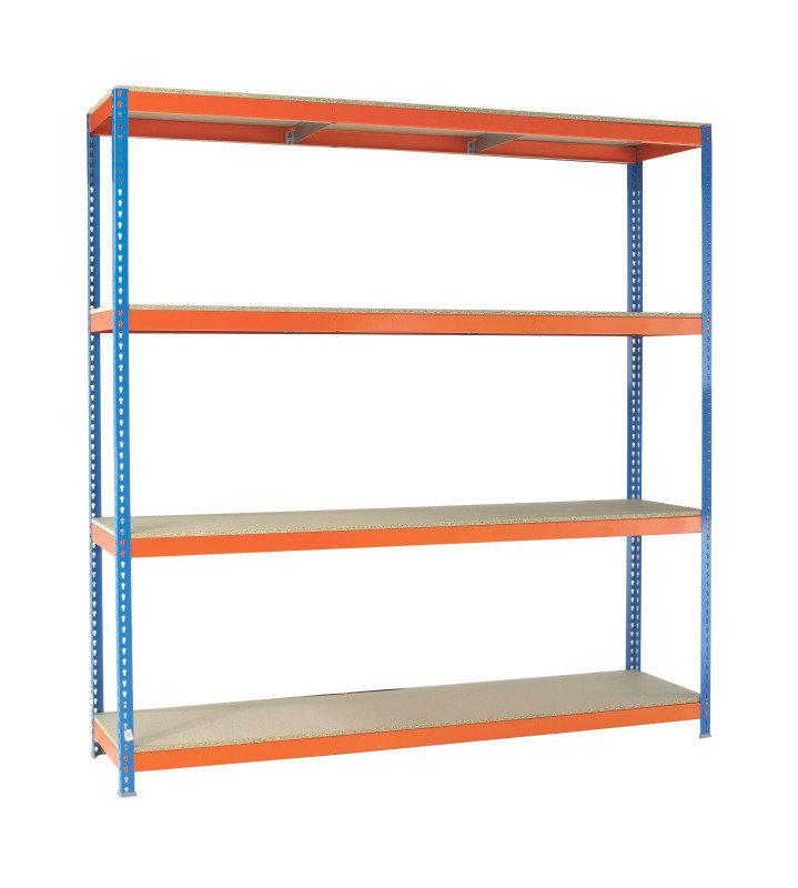 VFM Orange/Zinc Heavy Duty Painted Shelving Unit (Pack of 1)