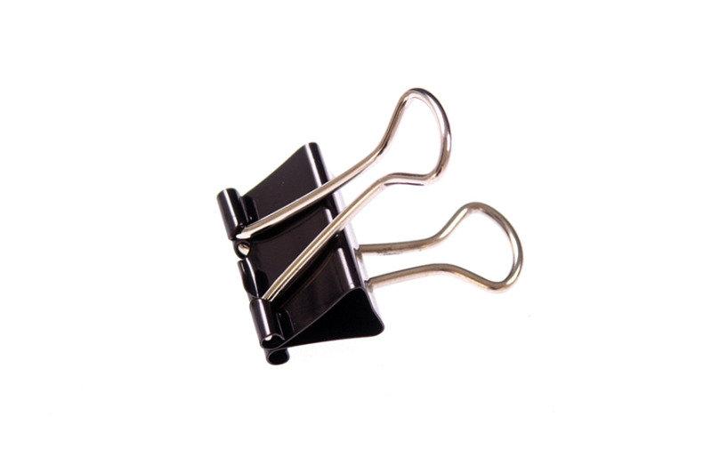 Q-Connect 16mm Black Foldback Clips - 10 Pack