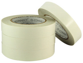 Q Connect Double Sided Tape 25mm X 33M - 6 Pack