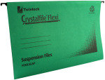 Rexel Crystalfile Flexi Standard Foolscap Green (Pack of 50)