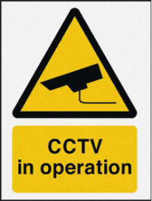 Extra Value Rigid CCTV In Operation Sign - 400x300mm