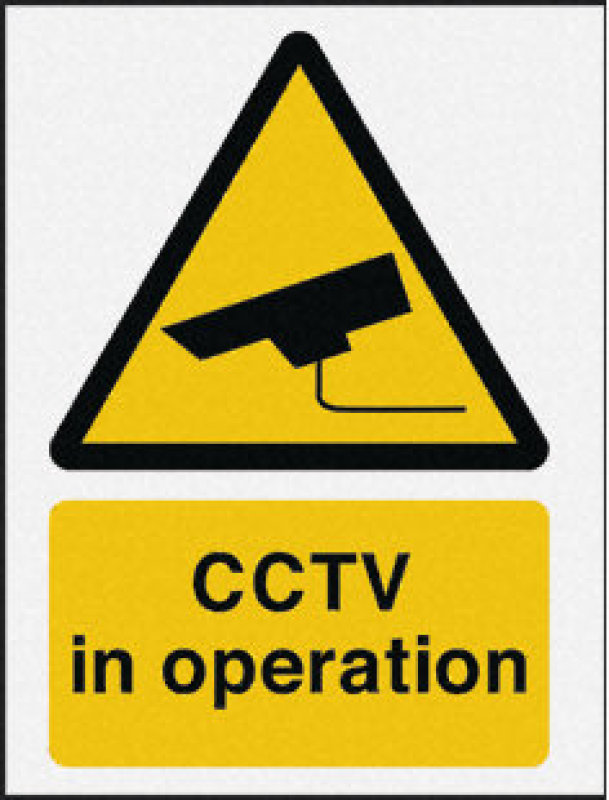 Image of Extra Value CTV3B/R Rigid CCTV In Operation Sign - 400x300mm