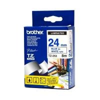 Brother TZe 253 Laminated tape- Blue on White