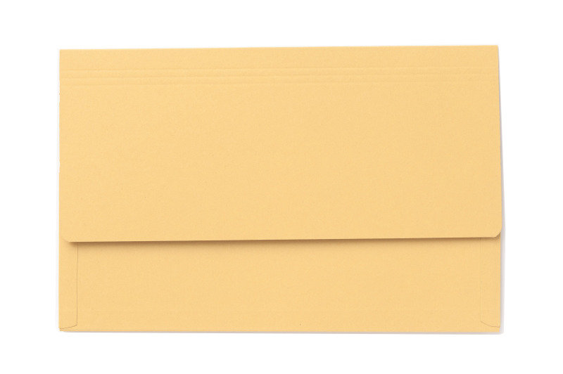 Image of Guildhall 3/4 Flap Legal Document Wallet Yellow