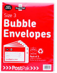 Extra Value POSTPAK BUBBLE ENV SIZE 3 PK40