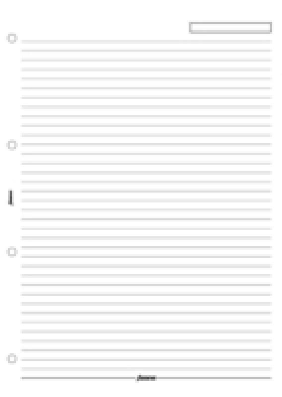 Image of FILOFAX A4 RULED PAPER WHITE 293008