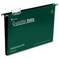 Crystalfile Extra 30mm A4 Grn Pk25 71759