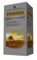 Twinings English Breakfast Decaff Envelope Tea Bag - 80 Pack