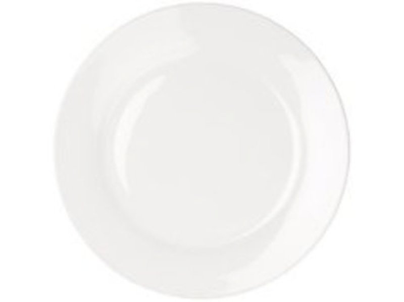 CPD 17cm White Porcelain Plate - 6 Pack