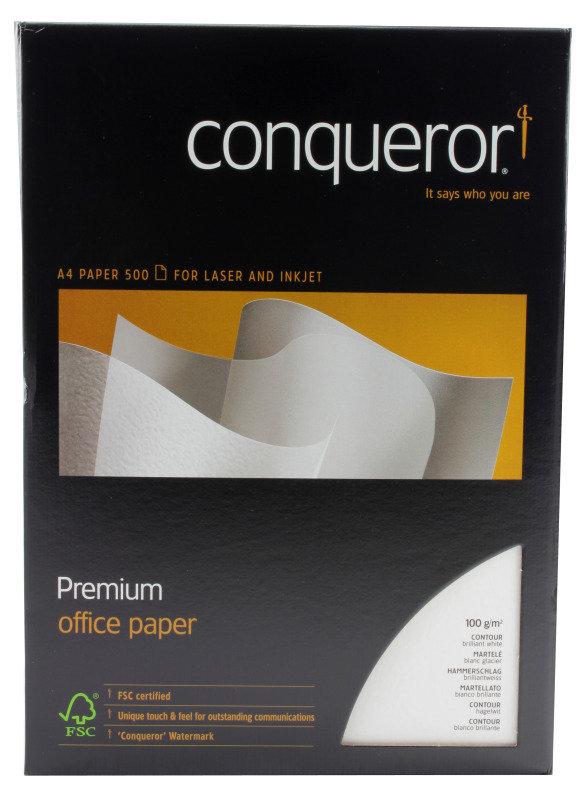 Image of CONQUEROR CONT BRILL WHT A4 100GSM PK500