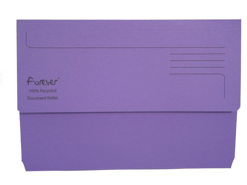 Guildhall Bright Manilla Wallet Purple - 25 Pack