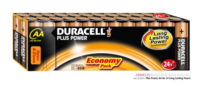 Duracell Plus AA Alkaline Batteries - 24 Pack