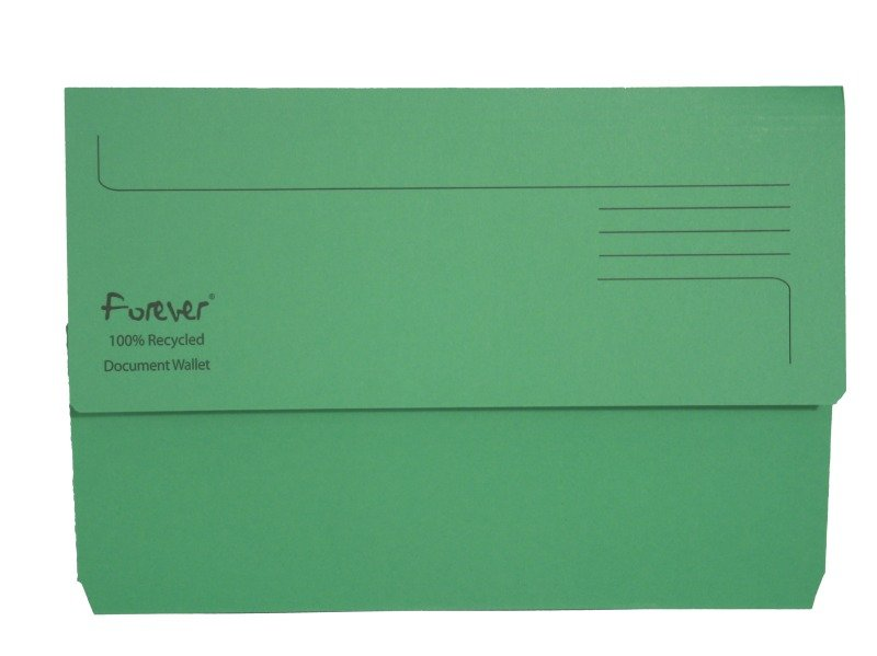 Guildhall Bright Manilla Wallet Green - 25 Pack
