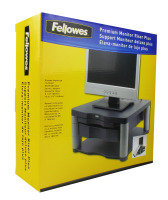 Fellowes Premium Monitor Riser Plus - Graphite