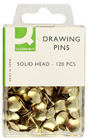 Q Connect Drawing Pins Solid Head Pk120 - 10 Pack