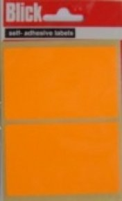 Blick Label Fluo Bag 50x80mm Org 010852 - 20 Pack