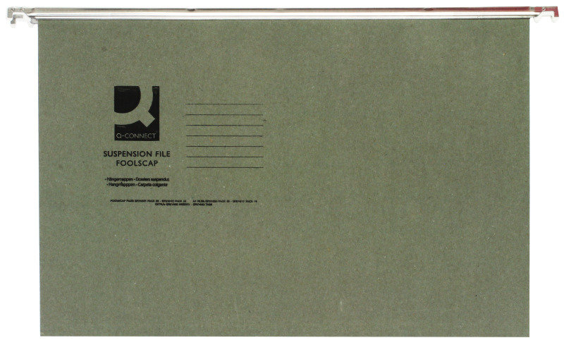 Q-Connect Foolscap Tabbed Suspension Files - 50 Pack
