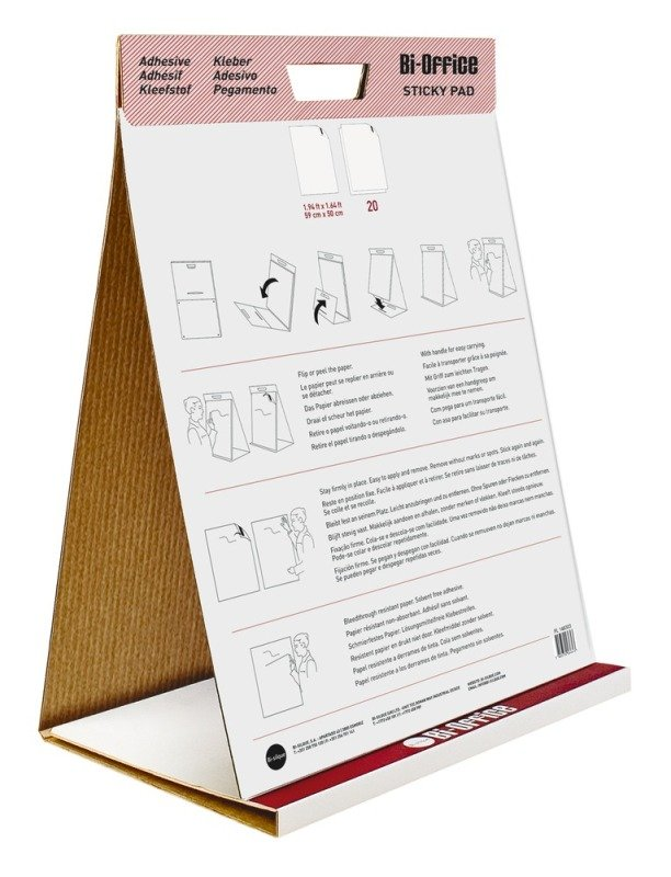 Bi Office Table Top Flipchart Pad - 20 Sheets
