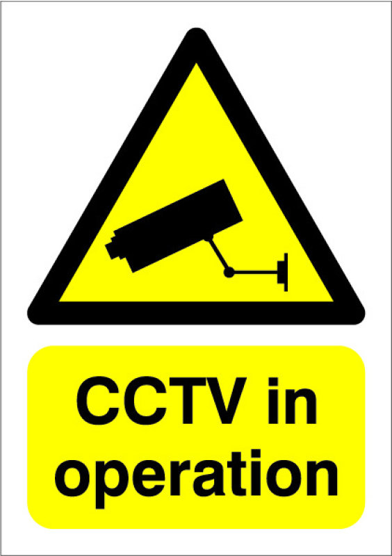 Image of SignsLab A5 PVC Sign - CCTV IN OPERATION