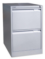 Bisley 2 Drawer Locking Foolscap Filing Cabinet - Grey