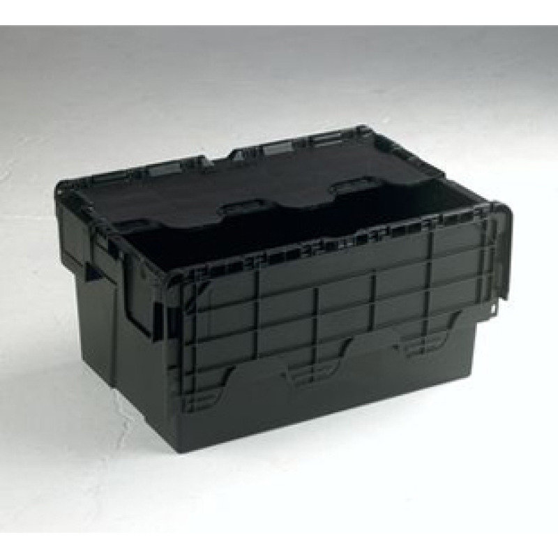 Attached Lid Container 54L Black