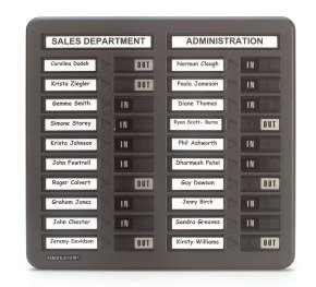 Indesign In/Out Board 20 Names Grey