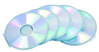 *FELLOWES ROUND SLIM CD CASE 5PK CLEAR