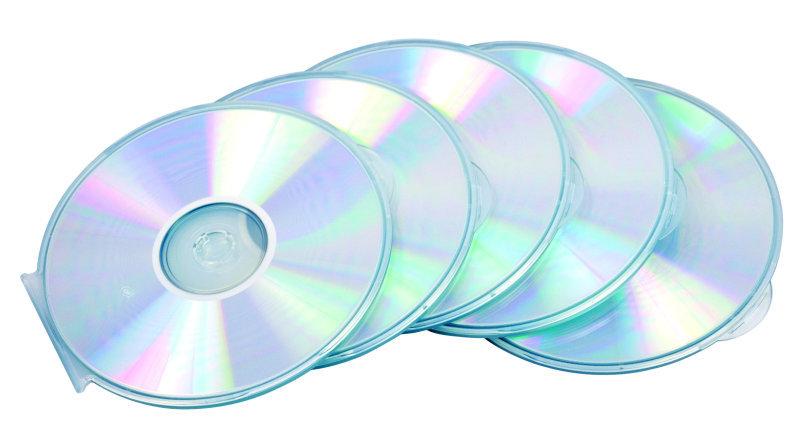 *FELLOWES ROUND SLIM CD CASE 5PK CLEAR